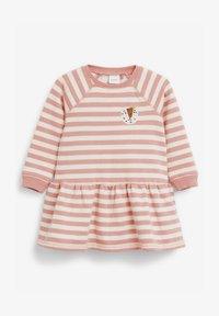 Next - STRIPE CHARACTER SWEAT DRESS (3MTHS-7YRS) - Day dress - pink - 0