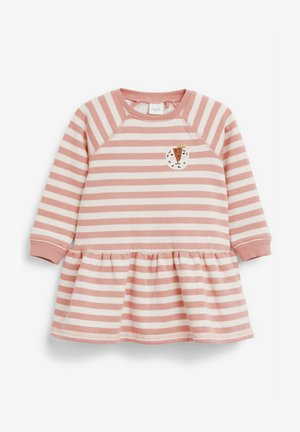 STRIPE CHARACTER SWEAT DRESS (3MTHS-7YRS) - Day dress - pink