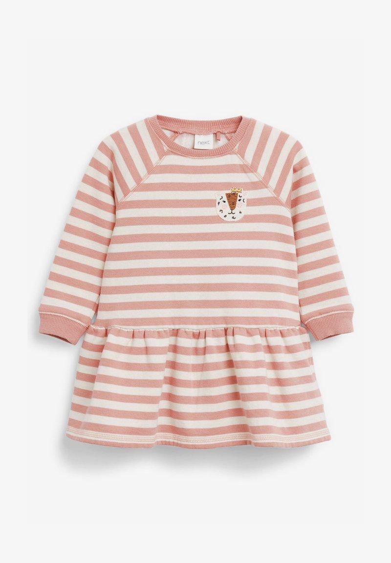 Next - STRIPE CHARACTER SWEAT DRESS (3MTHS-7YRS) - Day dress - pink
