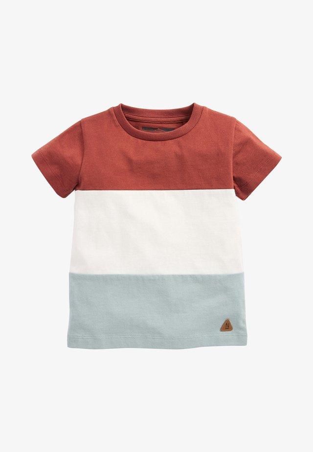 Print T-shirt - brown/white