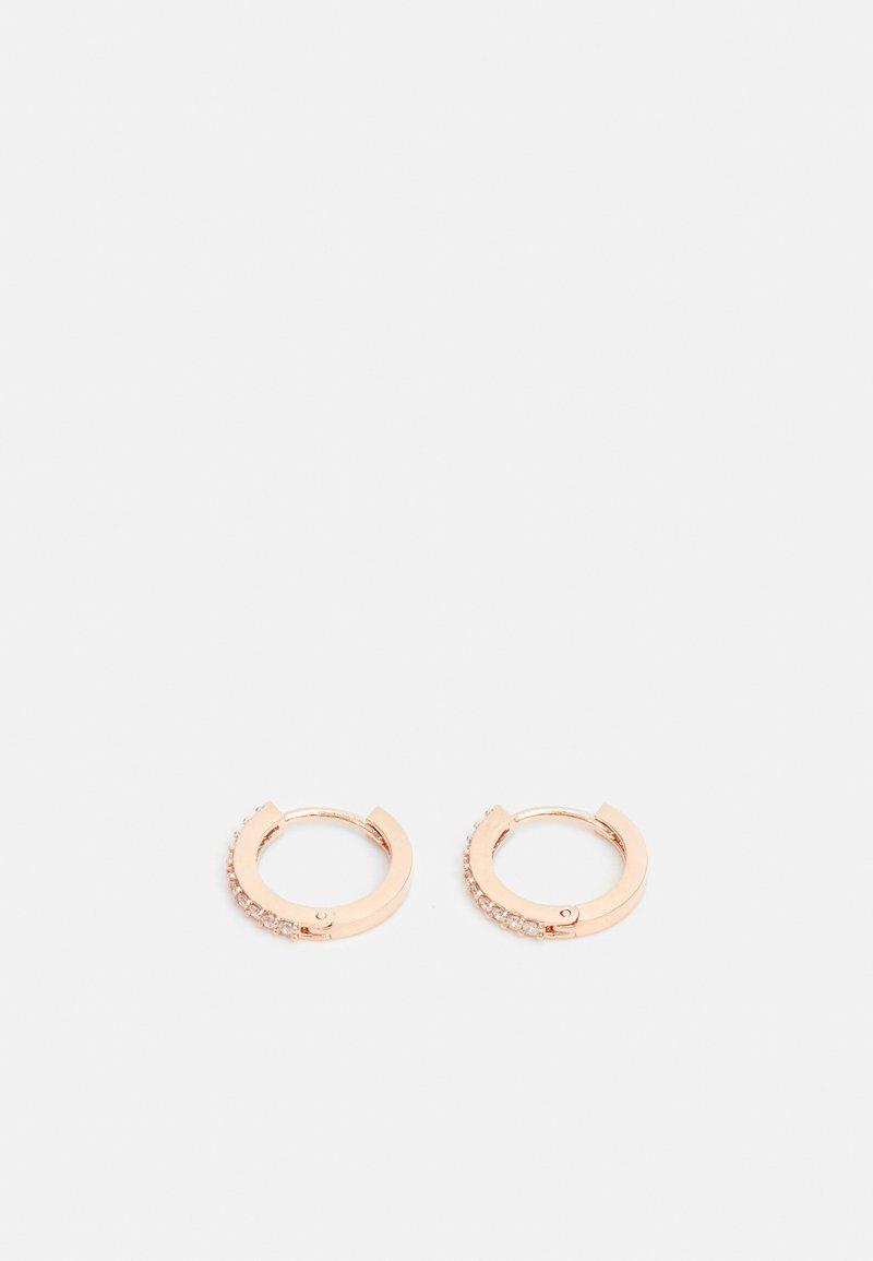 Orelia - MINI PAVE HUGGIE HOOP EARRINGS - Earrings - gold-coloured