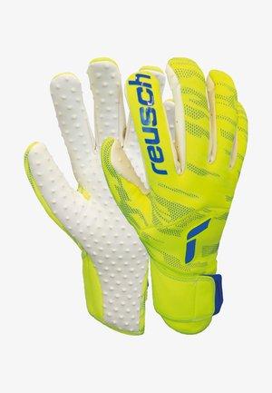 PURE CONTACT SPEEDBUMP - Goalkeeping gloves - safet yellow/dp blue/whit