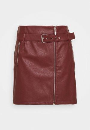 NMWILMA SKIRT - Mini skirts  - hot chocolate