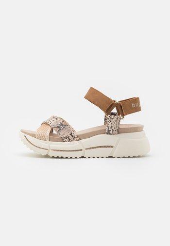 RAJA - Platform sandals - cognac