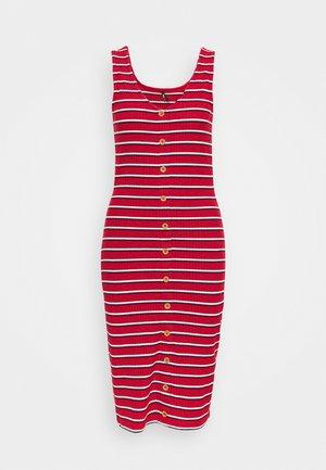 ONLNELLA BODYCON DRESS - Day dress - high risk red/cloud dancer/night sky