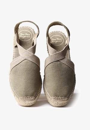 VERDI - Wedge sandals - khaki