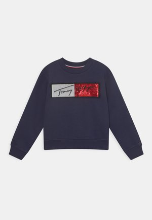 SEQUINS FLAG - Sweatshirt - twilight navy