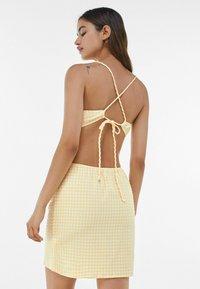 Bershka - MIT VICHYKAROS - Day dress - yellow/white - 2