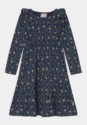 MOONLIGHT MEADOW FRILL DRESS - Jersey dress - evening blue
