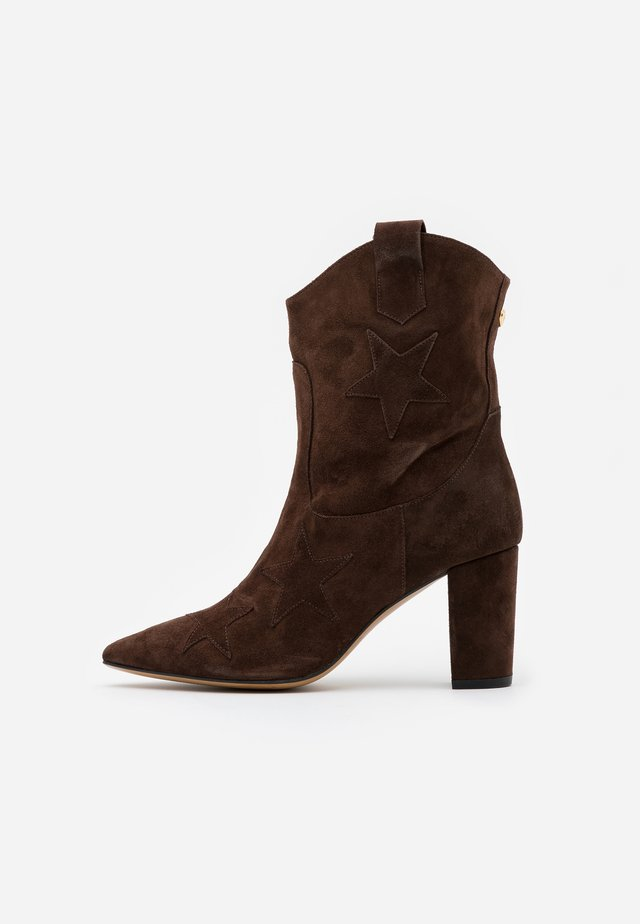 HUGO STAR  - Cowboy/biker ankle boot - dark brown