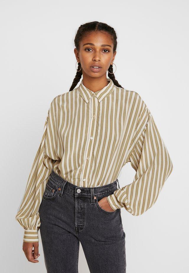MARGOT - Button-down blouse - stripe sandshell