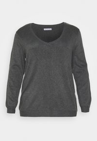 Anna Field Curvy - Jumper - dark grey mélange - 4