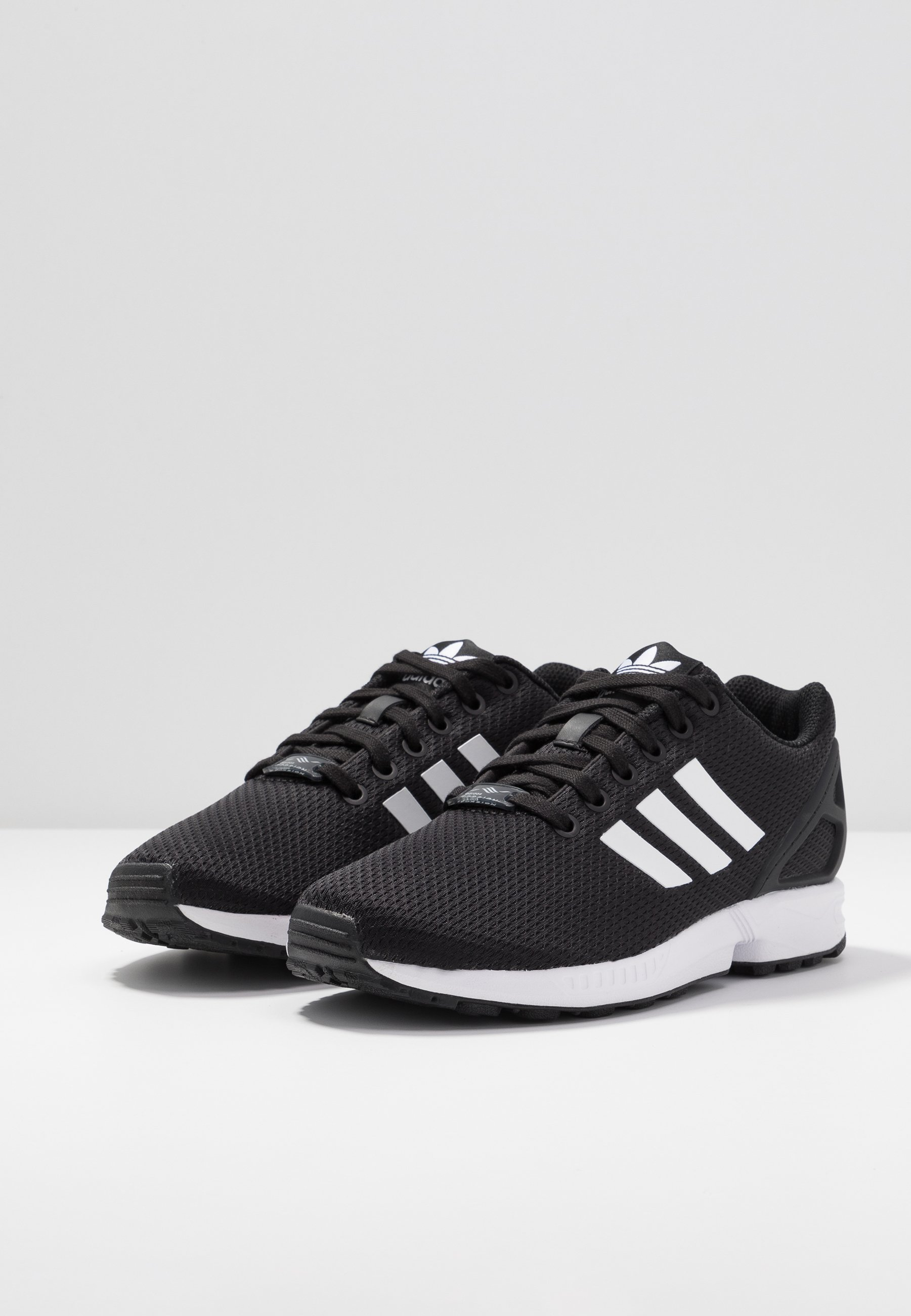 ZX FLUX - Sneakers laag - clear black/footwear white/clear pink