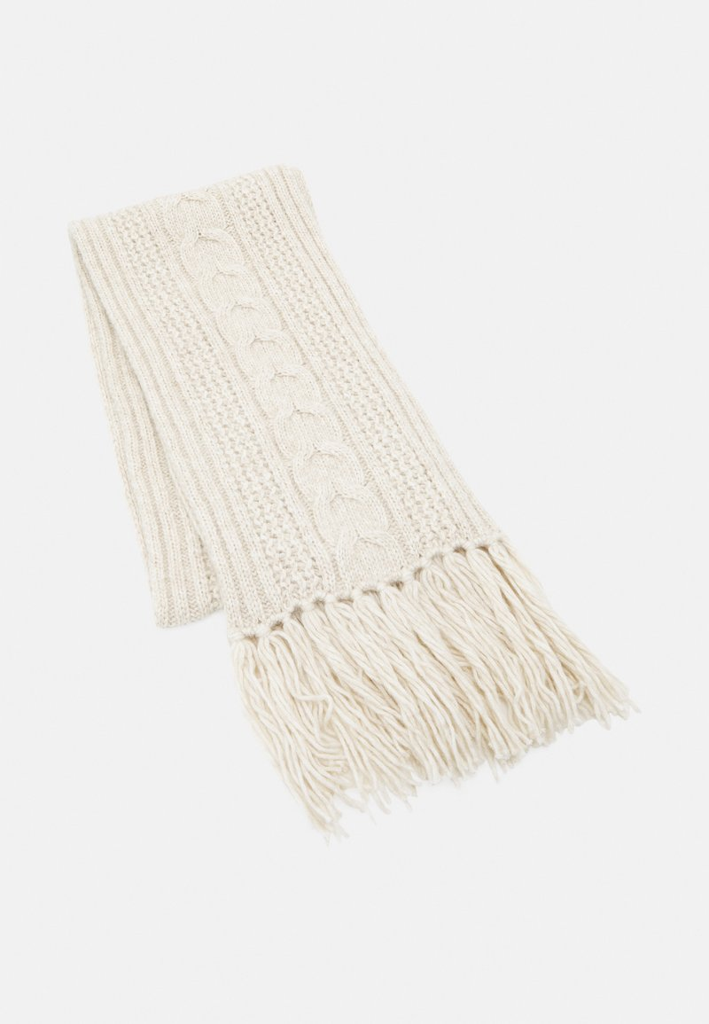Marc O'Polo - SCARF CABLE HIGHLIGHT - Scarf - chalky sand melange