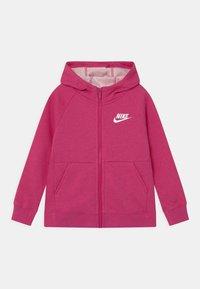 Nike Sportswear - FULL ZIP - Zip-up hoodie - fireberry/white - 0
