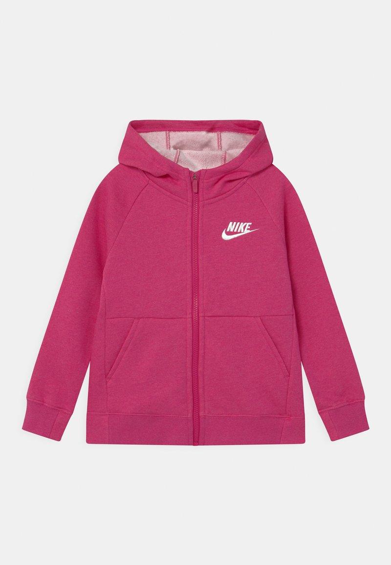 Nike Sportswear - FULL ZIP - Zip-up hoodie - fireberry/white