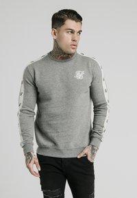 SIKSILK - PANELED CREW NECK - Sweatshirt - grey marl - 0