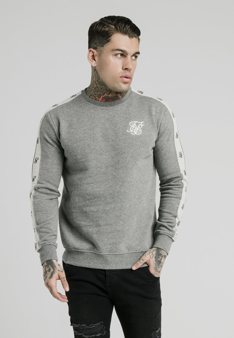 SIKSILK - PANELED CREW NECK - Sweatshirt - grey marl