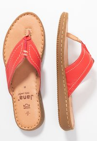 Jana - SLIDES - T-bar sandals - chili - 3