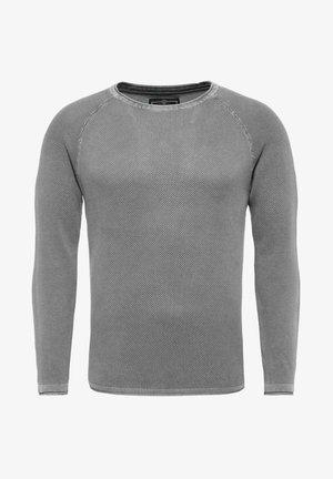 Stickad tröja - grau
