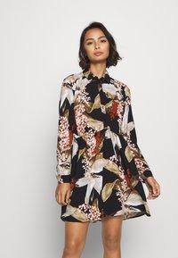 Object Petite - OBJLILITI SHORT DRESS - Shirt dress - black - 0
