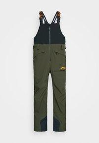 Oakley - SHELL BIB - Pantaloni da neve - black/green - 4
