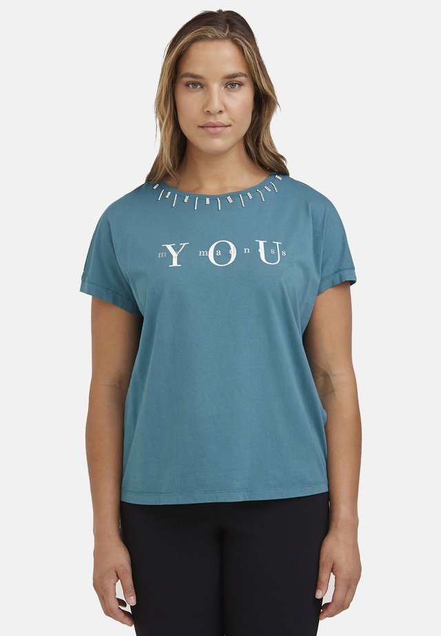 T-shirt con stampa - verde