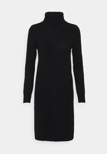 TURTLENECK DRESS - Jumper dress - black