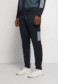 adidas Performance - FABRIC MIX AEROREADY SPORTS TRACKSUIT - Tracksuit - dark blue - 3