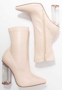 BEBO - HADLEY - High heeled ankle boots - nude - 3