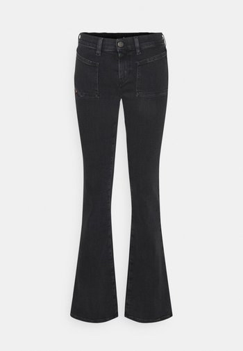 D-EBBEY-X-SP1 - Flared Jeans - washed black