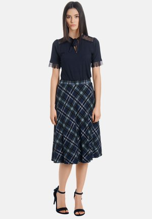 VERY BRITISH - A-line skirt - dark blue