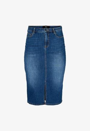 Pencil skirt - dark blue denim