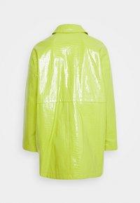 Topshop - ALMA CROC SHACKET - Short coat - green - 1