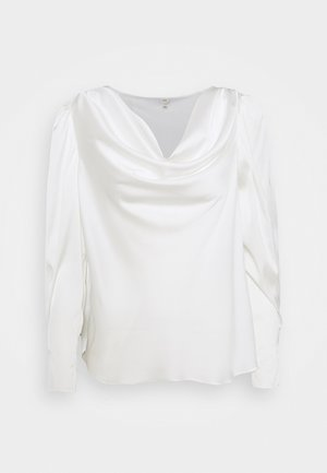 SAPPHIRE COWL NECK - Blouse - white