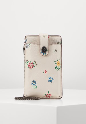 WILDFLOWER PRINT TURNLOCK CHAIN PHONE CROSSBODY - Mobiltasker - chalk