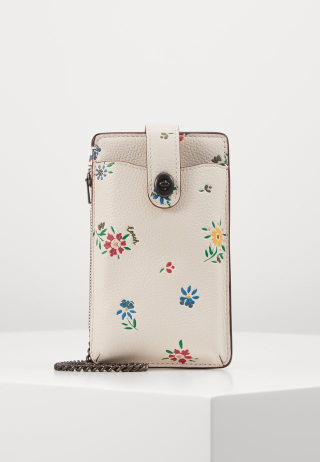 WILDFLOWER PRINT TURNLOCK CHAIN PHONE CROSSBODY - Kännykkäpussi - chalk