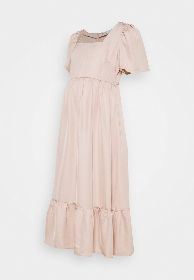 PEPLUM HEM MIDAXI DRESS WITH SHORT STATEMENT SLEEVES - Robe d'été - sandstone