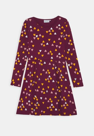 Jersey dress - berry