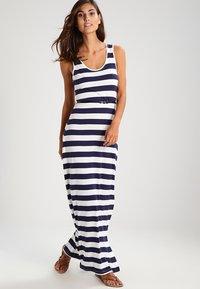 Zalando Essentials - Maxi dress - navy/off-white - 0