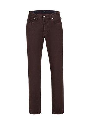 MIT SPEZIAL-SCHMIRGEL - Slim fit jeans - dunkelrot