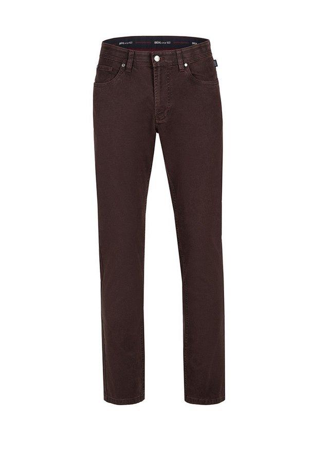 MIT SPEZIAL-SCHMIRGEL - Trousers - dunkelrot