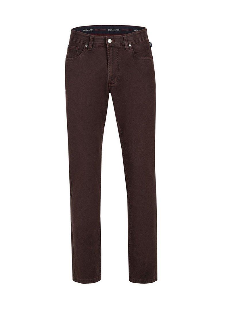 Brühl - MIT SPEZIAL-SCHMIRGEL - Slim fit jeans - dunkelrot
