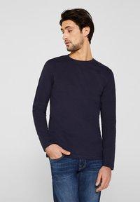 Esprit - LONG SLEEVE - T-shirt à manches longues - navy - 0