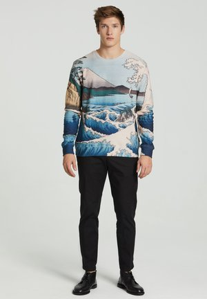 THE SEA OF SATTA - Sweatshirt - beige/light blue