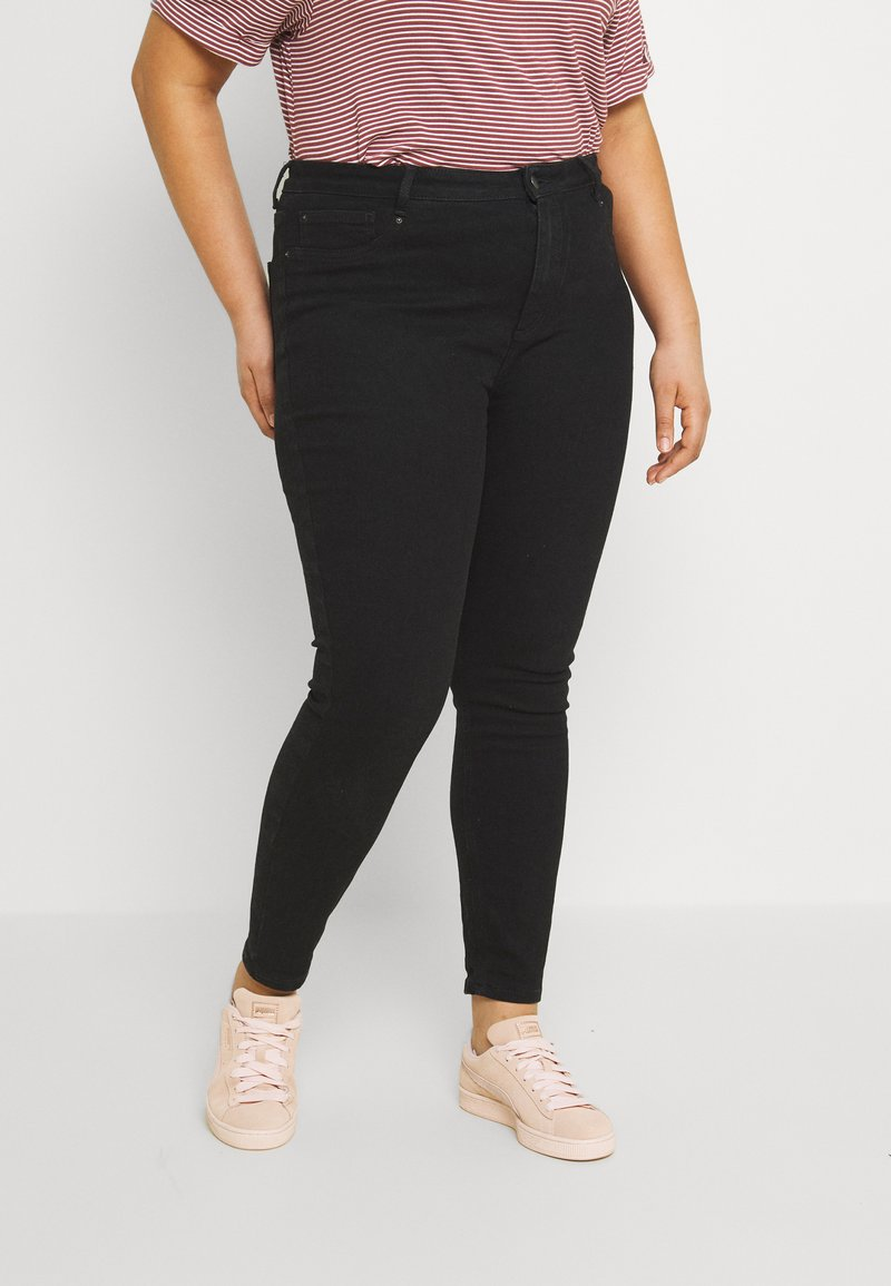 Even&Odd Curvy - Jeans Skinny Fit - black denim