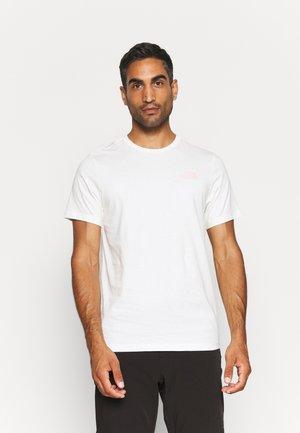 SIMPLE DOME TEE - T-shirt - bas - gardenia white/peach pink