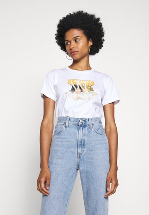 VINTAGE LIGHTS TEE - Print T-shirt - white