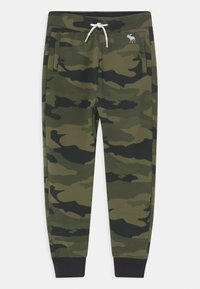 Abercrombie & Fitch - ICON CAMO  - Tracksuit bottoms - green - 0