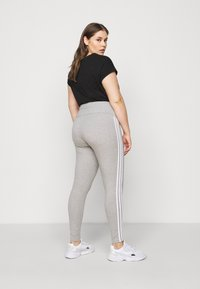 adidas Originals - STRIPES TIGHT - Leggings - Trousers - grey/white - 3